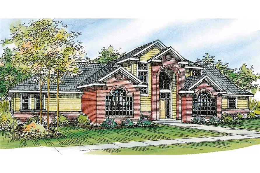 This is a colored rendering for European Home Plans 30-667.