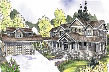 4-Bedroom, 5222 Sq Ft Country House Plan - 108-1118 - Front Exterior