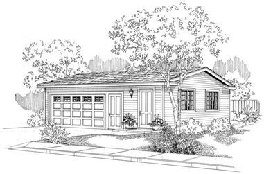 0-Bedroom, 660 Sq Ft Garage Home Plan - 108-1122 - Main Exterior