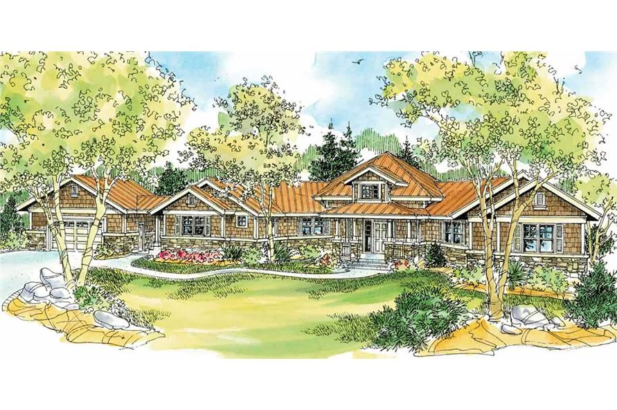 3-Bedroom, 2913 Sq Ft Craftsman Home Plan - 108-1123 - Main Exterior
