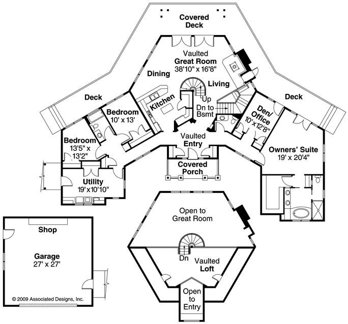 ... Floor Plan First Story Of Craftsman Plan #108 1123 Design Inspirations