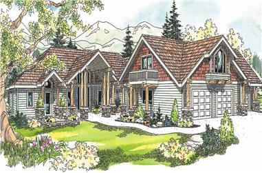 4-Bedroom, 4232 Sq Ft Craftsman Home Plan - 108-1124 - Main Exterior