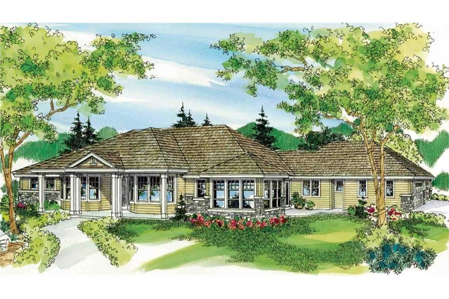 3-Bedroom, 3617 Sq Ft European House Plan - 108-1127 - Front Exterior