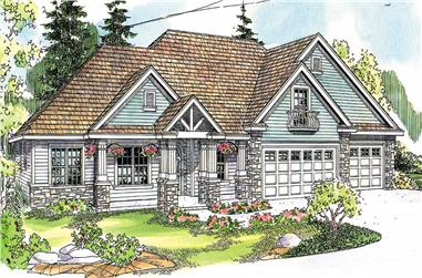 3-Bedroom, 3439 Sq Ft Country House Plan - 108-1129 - Front Exterior