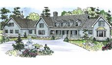 This image shows the Country Style for this set of house plans.