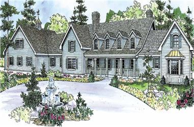 4-Bedroom, 5194 Sq Ft Country Home Plan - 108-1131 - Main Exterior