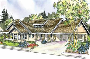 2-Bedroom, 3021 Sq Ft Florida Style Home Plan - 108-1136 - Main Exterior