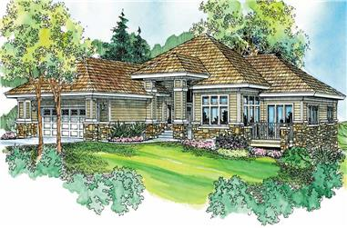 2-Bedroom, 2538 Sq Ft Prairie Home Plan - 108-1137 - Main Exterior