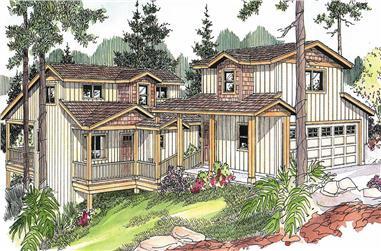 3-Bedroom, 2312 Sq Ft Coastal House Plan - 108-1139 - Front Exterior