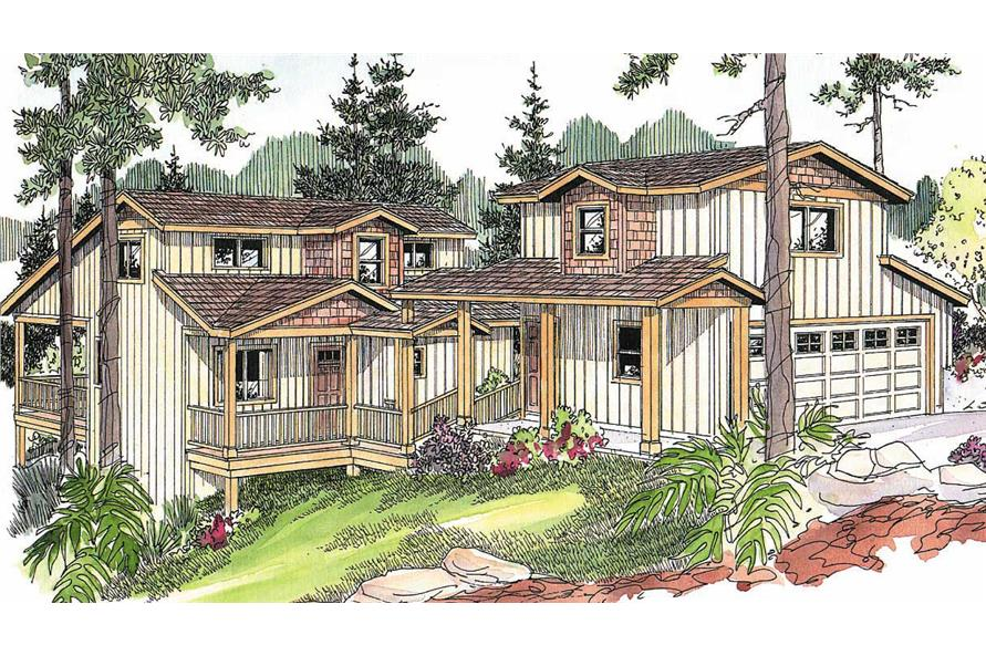 3-Bedroom, 2312 Sq Ft Coastal House Plan - 108-1139 - Front Exterior