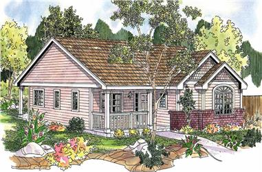 3-Bedroom, 1373 Sq Ft Small House Plans - 108-1140 - Main Exterior