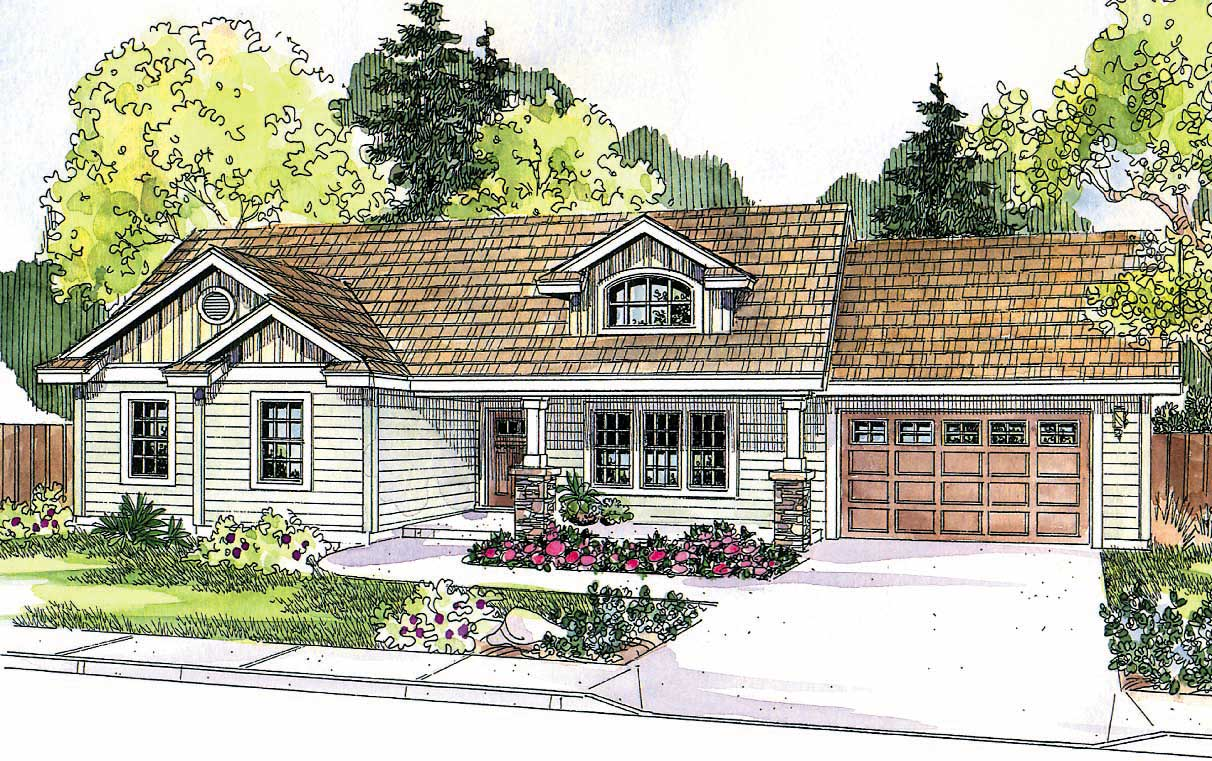 Country craftsman home with 3 bdrms 1510 sq ft house for Country craftsman house plans
