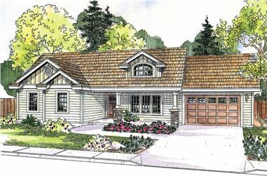 3-Bedroom, 1510 Sq Ft Country Home Plan - 108-1143 - Main Exterior