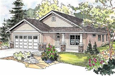 3-Bedroom, 1430 Sq Ft Country House Plan - 108-1150 - Front Exterior