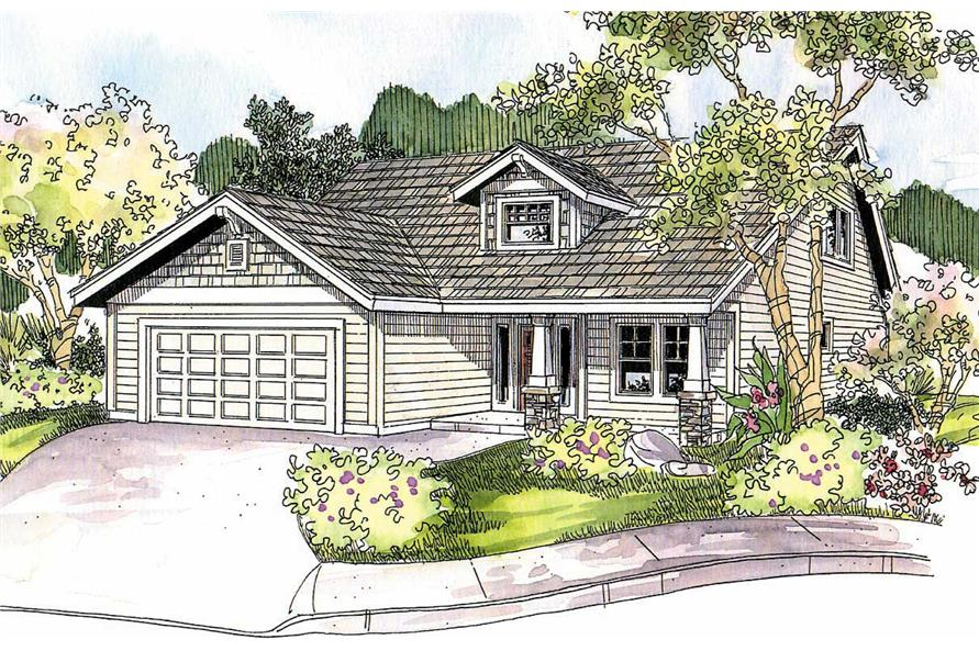 3-Bedroom, 1599 Sq Ft Contemporary House Plan - 108-1151 - Front Exterior