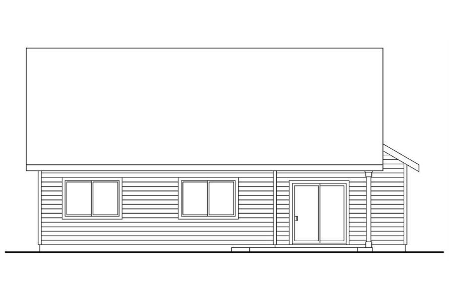 Home Plan Rear Elevation of this 3-Bedroom,1599 Sq Ft Plan -108-1151