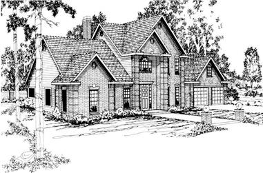 4-Bedroom, 2884 Sq Ft Traditional Home Plan - 108-1152 - Main Exterior