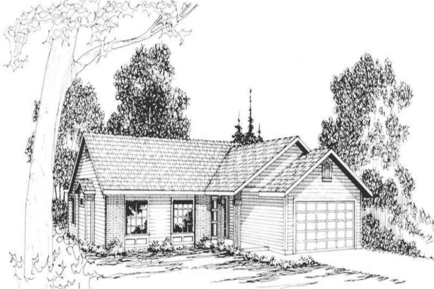 3-Bedroom, 1531 Sq Ft Ranch Home Plan - 108-1155 - Main Exterior