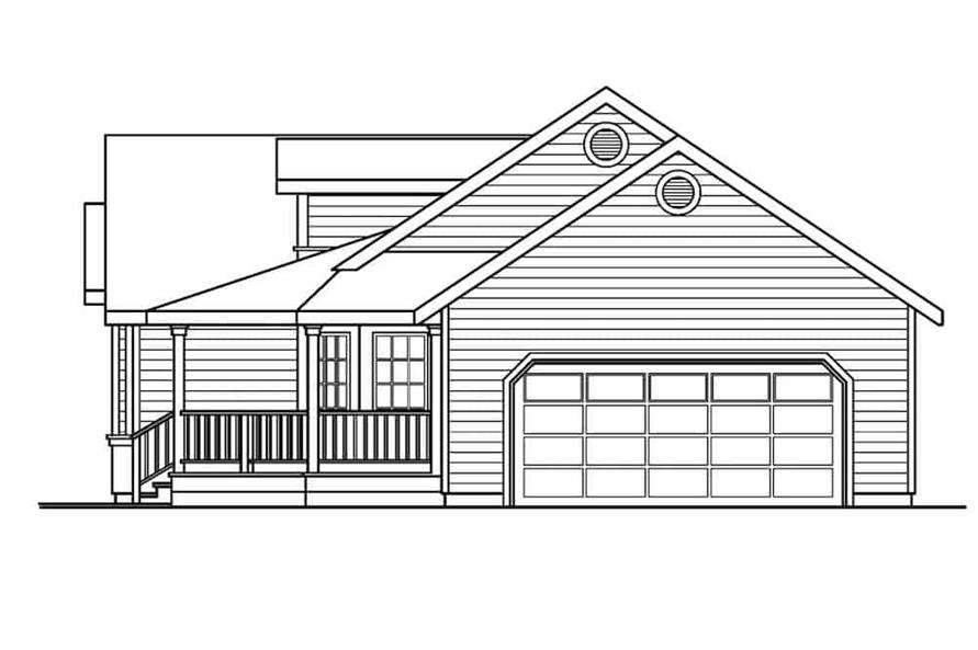 Home Plan Right Elevation of this 3-Bedroom,1634 Sq Ft Plan -108-1159