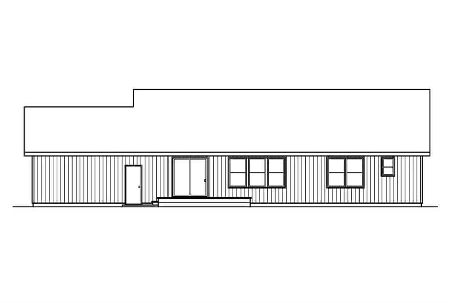 108-1159: Home Plan Rear Elevation