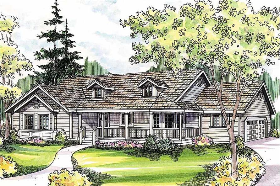 3-Bedroom, 1634 Sq Ft Country Home - Plan #108-1159 - Main Exterior