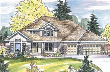 5-Bedroom, 3922 Sq Ft Contemporary House - Plan #108-1160 - Front Exterior