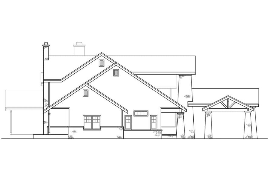 Home Plan Left Elevation of this 3-Bedroom,4021 Sq Ft Plan -108-1161