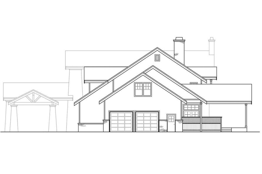 Home Plan Right Elevation of this 3-Bedroom,4021 Sq Ft Plan -108-1161