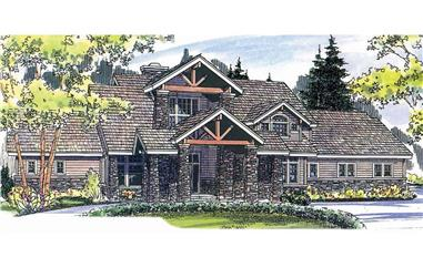 3-Bedroom, 4021 Sq Ft Rustic Home - Plan #108-1161 - Main Exterior