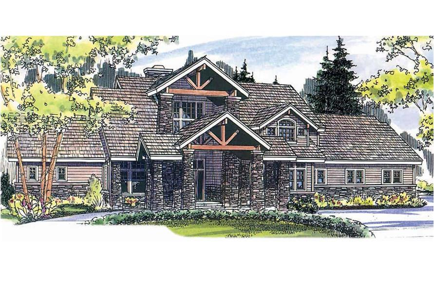 Rustic home (ThePlanCollection: House Plan #108-1161)