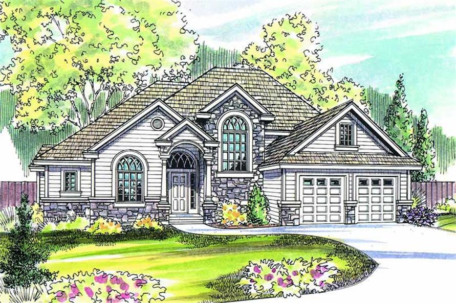 3-Bedroom, 2609 Sq Ft European Home Plan - 108-1162 - Main Exterior
