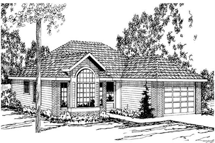 4-Bedroom, 1793 Sq Ft Small House Plans - 108-1165 - Main Exterior