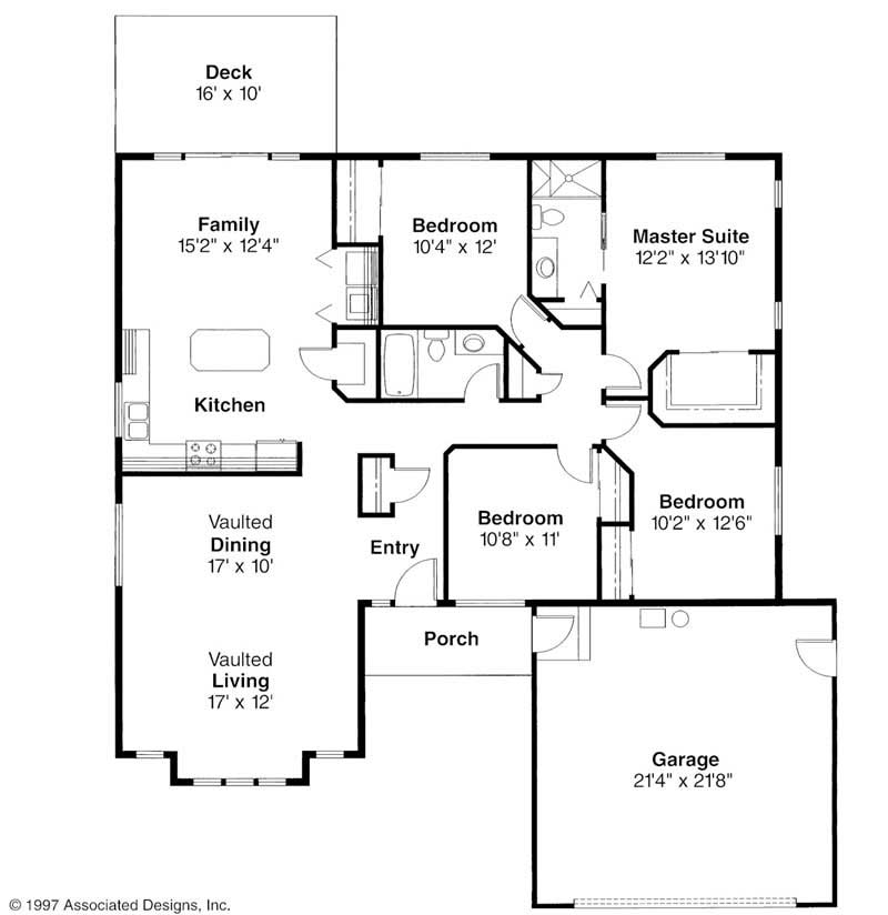 Small transitional home with 4 bdrms 1793 sq ft floor for Baldwin floor plan