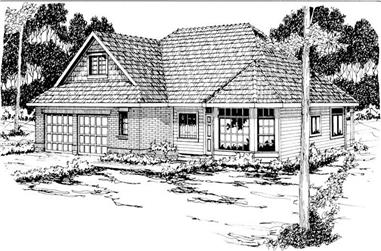 3-Bedroom, 2103 Sq Ft Traditional Home Plan - 108-1166 - Main Exterior