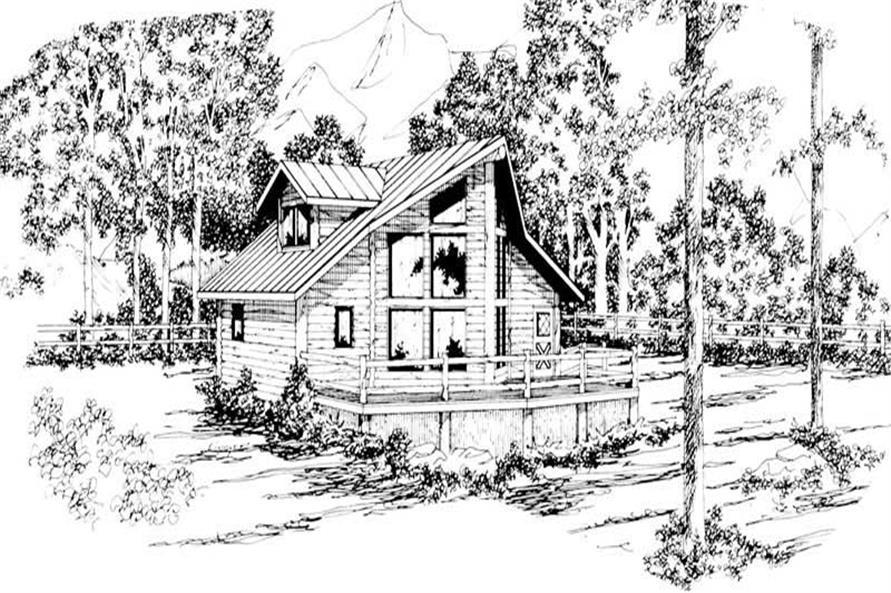 Home Plan Rendering of this 3-Bedroom,1401 Sq Ft Plan -108-1170