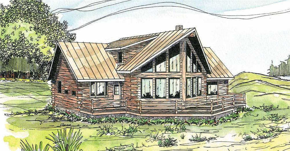 Front elevation of Cape Cod home (ThePlanCollection: House Plan #108-1171)