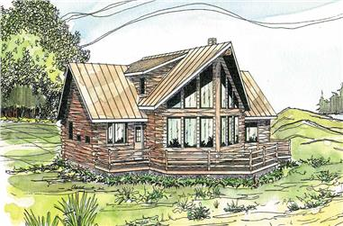 3-Bedroom, 1987 Sq Ft Cape Cod Home Plan - 108-1171 - Main Exterior