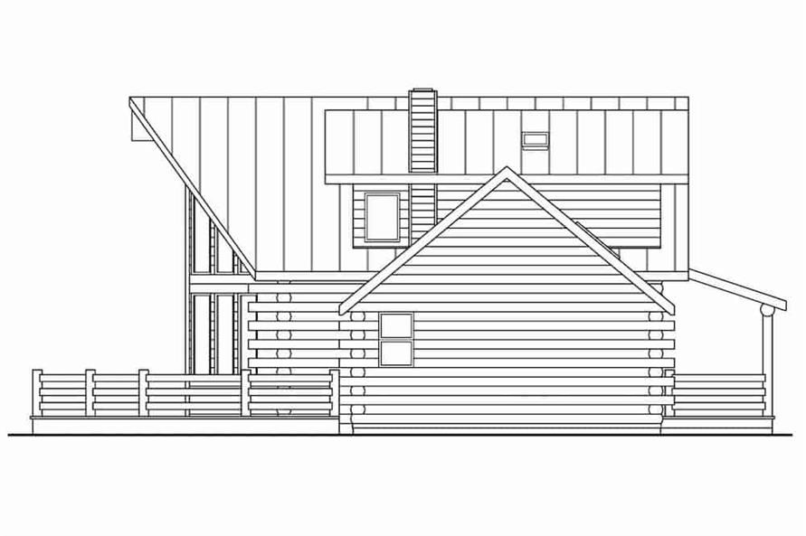 Home Plan Left Elevation of this 3-Bedroom,1987 Sq Ft Plan -108-1171