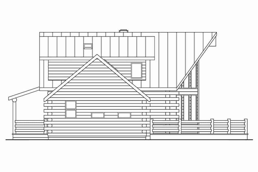 Home Plan Right Elevation of this 3-Bedroom,1987 Sq Ft Plan -108-1171