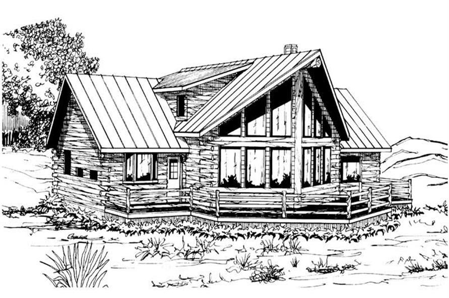 Home Plan Rendering of this 3-Bedroom,1987 Sq Ft Plan -1987