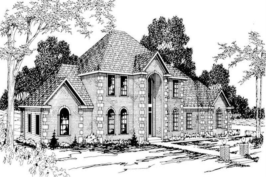 4-Bedroom, 3452 Sq Ft Luxury Home Plan - 108-1173 - Main Exterior