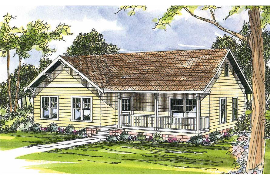 3-Bedroom, 1328 Sq Ft Country Home Plan - 108-1176 - Main Exterior