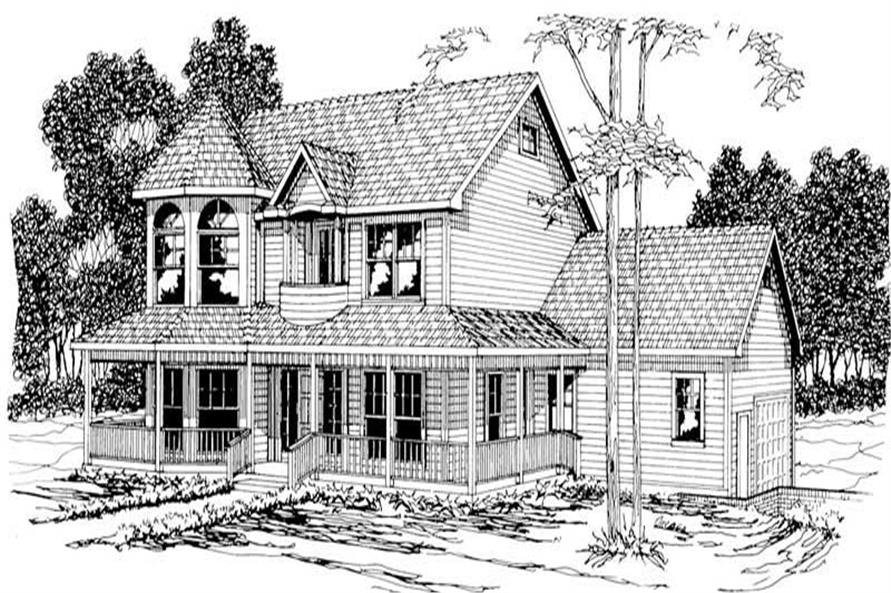 4-Bedroom, 2812 Sq Ft Country Home Plan - 108-1177 - Main Exterior