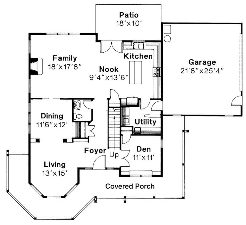 First Floor Floor Plan for Evansville
