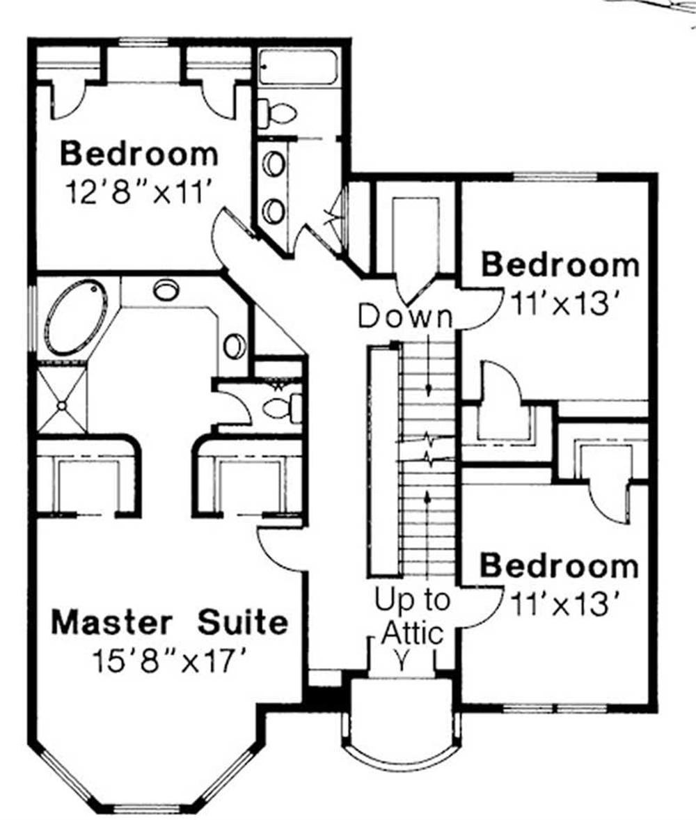 Second Floor Floor Plan for Evansville