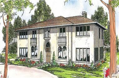 6-Bedroom, 4765 Sq Ft Mediterranean Home Plan - 108-1178 - Main Exterior
