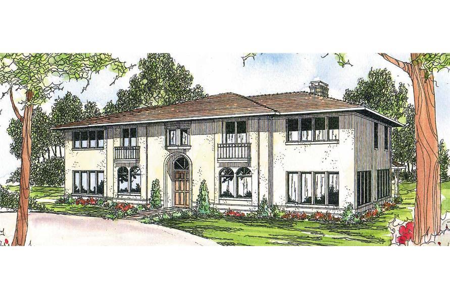 6-Bedroom, 4765 Sq Ft Mediterranean Home Plan - 108-1178 - Main Exterior