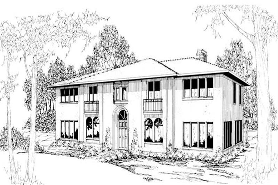 Home Plan Rendering of this 6-Bedroom,4765 Sq Ft Plan -108-1178