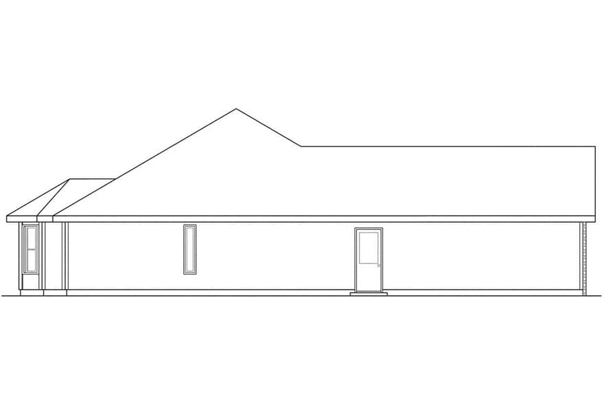 Home Plan Left Elevation of this 4-Bedroom,1835 Sq Ft Plan -108-1181