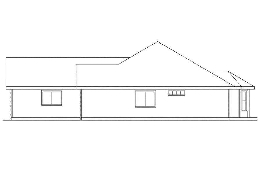Home Plan Right Elevation of this 4-Bedroom,1835 Sq Ft Plan -108-1181